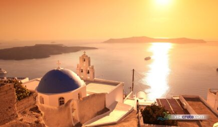 Santorini One Day Trip from Lasithi (Elounda, Agios Nikolaos, Ierpaetra). Dep. from Heraklion port
